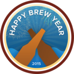 BADGE_UNTAPPD Happy Brew Year (2015)